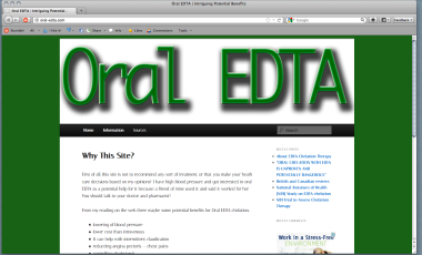 Website – oral-edta.com 1 Month Rental